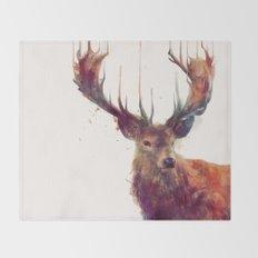 Red Deer // Stag Throw Blanket