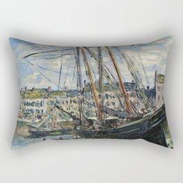 Claude Monet - Boat Lying At Low Tide Rectangular Pillow