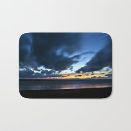 Nocturnal Cloud Spectacle on Danish Sky Bath Mat