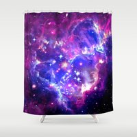 laptop Shower Curtains featuring Galaxy. by Matt Borchert