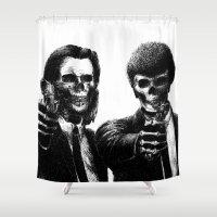 pulp Shower Curtains featuring Pulp Fiction by Motohiro NEZU