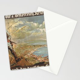 Vintage First World War Poster - Austria War Loans (1917) Stationery Cards