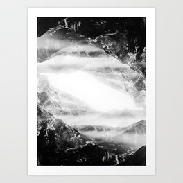 Black Flip Art Print