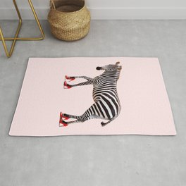 HIGH HEEL ZEBRA Rug