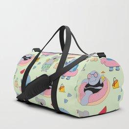 Beach animals - green Duffle Bag