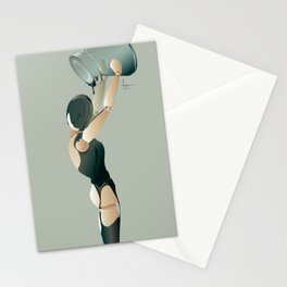 PAINTED BLACK Stationery Cards