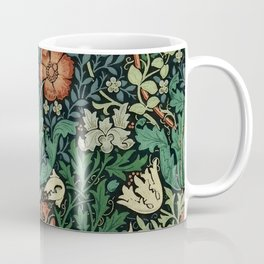 William Morris Compton Floral Art Nouveau Pattern Coffee Mug