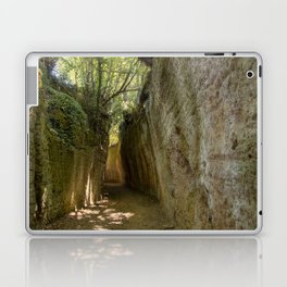 Excavated Etruscan Roads Laptop & iPad Skin