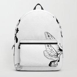 Butterfly Black Pattern Backpack