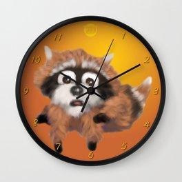 Raccoon Series: Running Scared Wall Clock