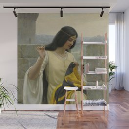 "Edmund Blair Leighton ""Stitching the Standard"" Wall Mural"