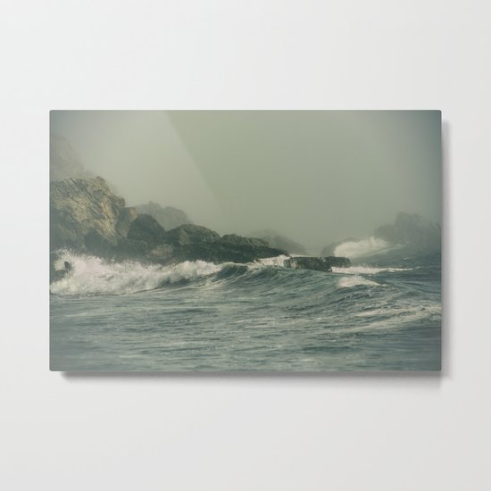 Into the Waves IX Metal Print