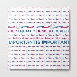 Gender Equality_04 by Victoria Deregus Metal Print