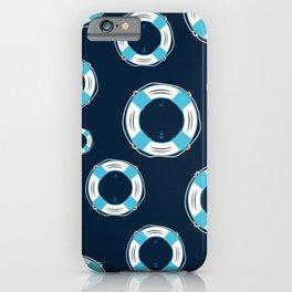 Life Belt maritim nautical seamless pattern iPhone Case