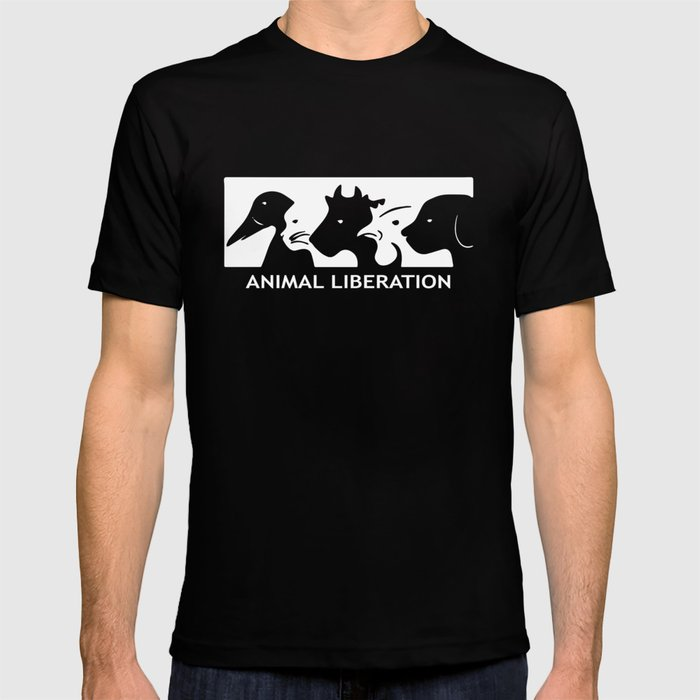 ALF Animal Liberation Front animal rights activist Vegan anarchist tee  Vegan T-shirt by michellesadler