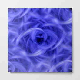 Background Flames Blue Metal Print