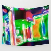 shopping Wall Tapestries featuring Window Shopping by Ray Cowie