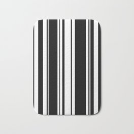 Black and white stripes 3 Bath Mat