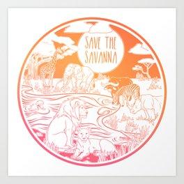 Save the Savanna! Art Print