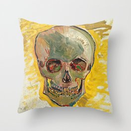 Skull by Vincent van Gogh, 1887 Throw Pillow