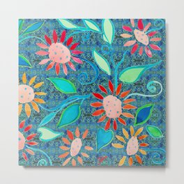 zakiaz ocean of flowers Metal Print
