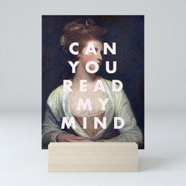 can you read my mind print Mini Art Print