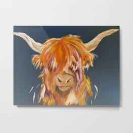 Bonnie Highland Cow Metal Print