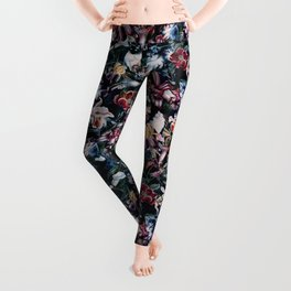 Cats and Flowers Leggings