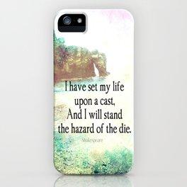 Shakespeare adventure travel sea quote iPhone Case
