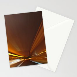 Traffic in warp speed Stationery Cards