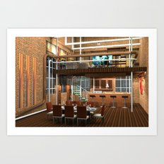 Loft Apartment Dining Room Art Print