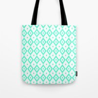 valar morghulis Tote Bags featuring Cyan Diamonds by beatrice