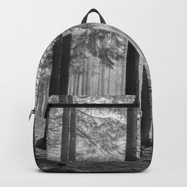 Black and white contrast forest - North Kessock, Highlands, Scotland Backpack