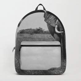 The Elephants (Black and White) Backpack