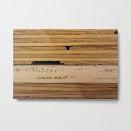 Plywood layers Metal Print