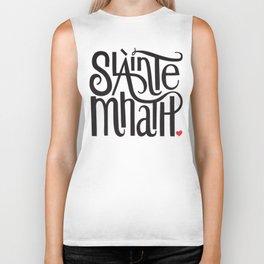 Slainte Mhath Gaelic toast Biker Tank