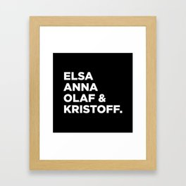 Frozen (b) Framed Art Print