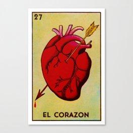 El Corazon Canvas Print