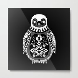 Black Penguin Ecopop Metal Print