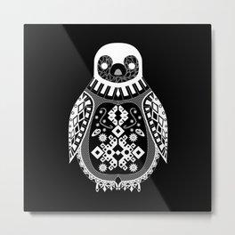 Black Penguin Ecopop Metal Print