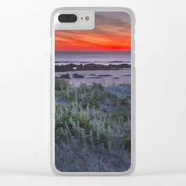 Sand dunes at sunset Clear iPhone Case