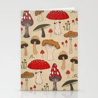mushrooms Stationery Cards featuring Mushrooms by Lynette Sherrard Illustration and Design