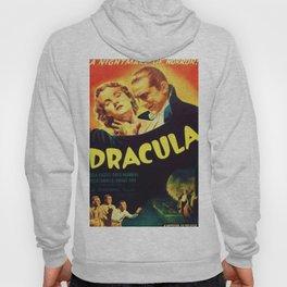 Vintage 1931 Bela Lugosi Dracula Movie Advertisement Poster Hoody