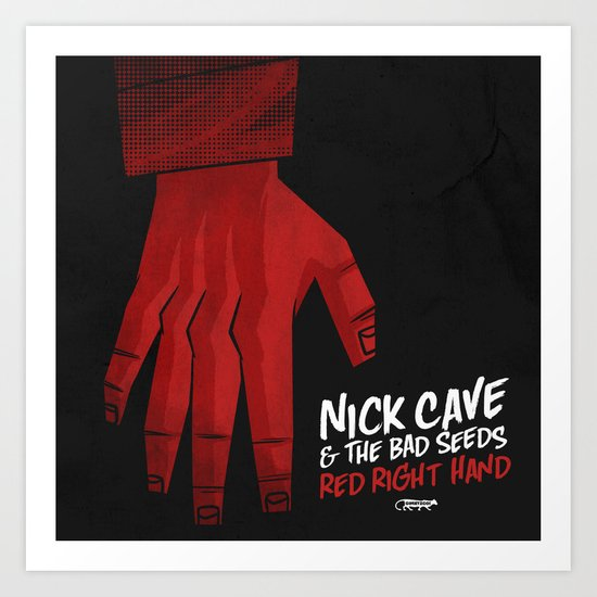 7 inch series: Nick Cave & the Bad Seeds - Red Right Hand Art Print