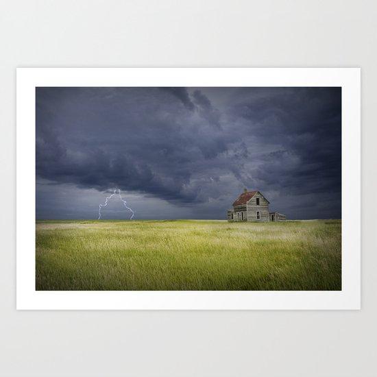 Thunderstorm on the Prairie Art Print