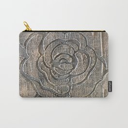 Novato Grey Tone Flower Painting Carry-All Pouch