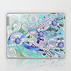 Flower fire, bright blues Laptop & iPad Skin