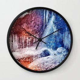 Acrylic Winter Stream Wall Clock