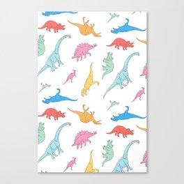 Dino Doodles Canvas Print