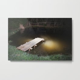 Crossing the Threshold between Life and Death Metal Print